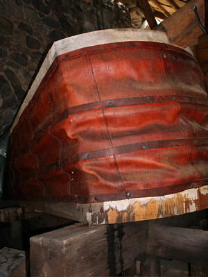 Blast furnace leather bellows