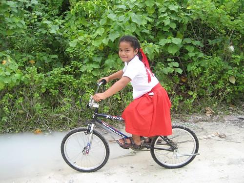 Riding home from school Niuatoputapu