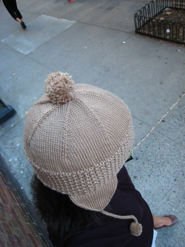 roman earflap hat - top view
