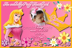 G1 Sleeping beauty sample (* xileniux *) Tags: birthday sleeping beauty child with princess picture invitation card aurora personalized personalizedbirthdaybabyshowerhalloweeninvitationcard announcementswithchildpicture1stbirthday
