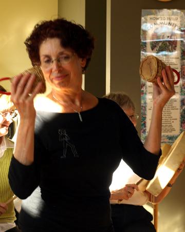 Barbara Karmazyn with Shakers