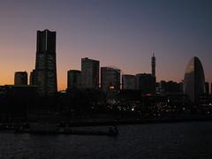 客室から横浜を望む
