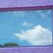 purple framed window by vivagirlco