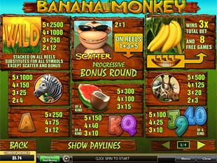 free Banana Monkey slot mini symbol
