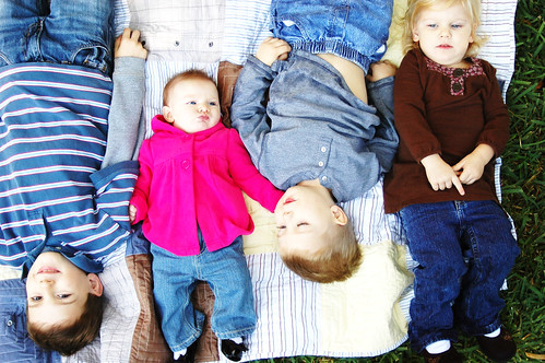 kids on a blanket
