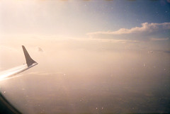 dear sun (scott w. h. young) Tags: light sky sun color love film plane 35mm fly wing