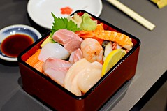 Chirashi Set Lunch, Kaiho Sushi Restaurant, Cuppage Plaza