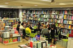 Kniting class in a bookstore (sifis) Tags: nikon knitting group athens bookstore class greece d300 2470 sakalak eleftheroudakis πλεκω πλεκτο πλεξιμο