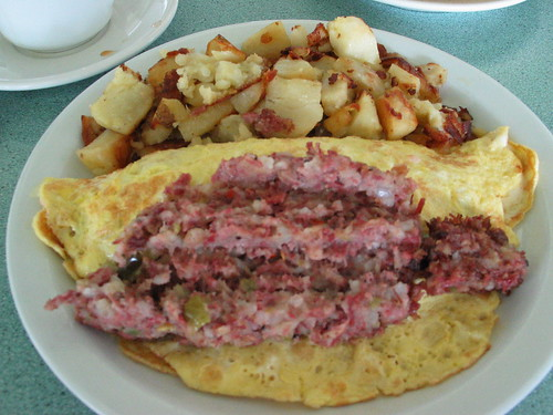 Olympia Diner Hash & Cheese Omelet