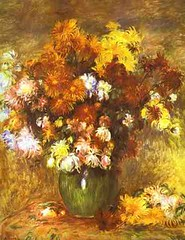Bouquet Chrysanthemums van Renoir