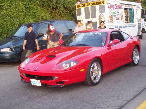 A Ferrari 550 Maranello!