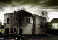 Creepy, creaking, haunted-looking..synagogue. - by ÙbetenoirÙ
