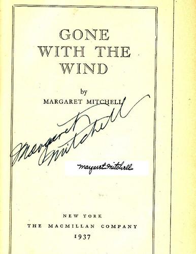 Margaret Mitchell's autograph?