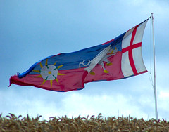 Richard III battle standard,Bosworth field (kev747) Tags: uk england village leicestershire flag richard midlands richardiii kingrichard marketbosworth battleofbosworth battlestandard waroftheroses