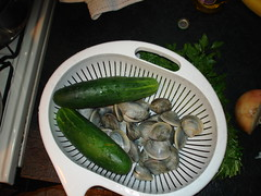 Cucumbers and clams