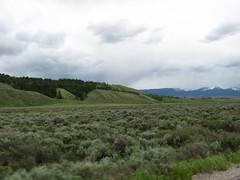 the road in to the Tetons (hannah clan) Tags: mountains wyoming tetons nationalparks jacksonlake jacksonlakelodge