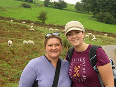 Sisters and sheep