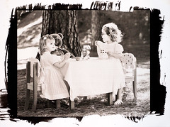 The Tea Party (Palladium-Toned Kallitype) (rippo) Tags: portrait digital strobe alternativeprocess kallitype strobist venturacalifornia fujifilmfinepixs5pro