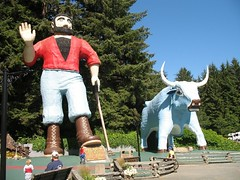 Paul Bunyan and the Trees of Mystery!