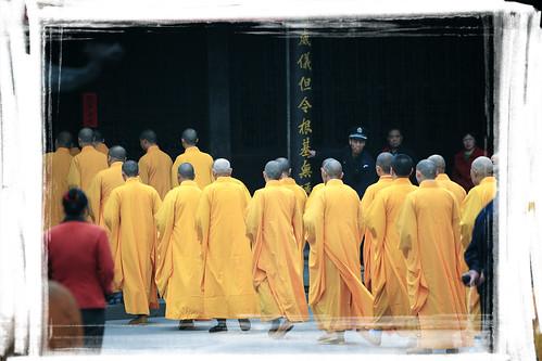 Monks at Monastery of Divine Light