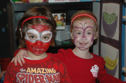 Face painting day at the Nocca house