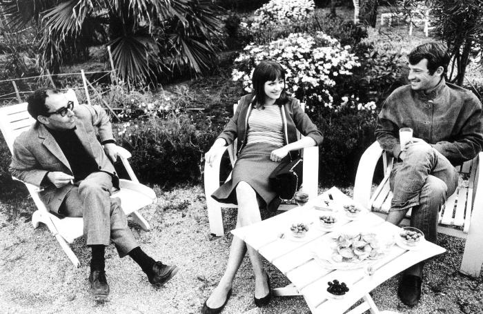 "00/00/1965. TOURNAGE DE ""PIERROT LE FOU"""