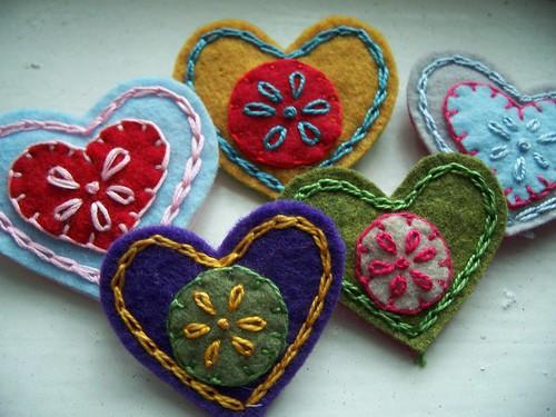 folksy hearts