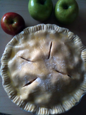 Apple Pie, right before the oven