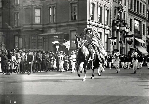 Inez Milholland famously rode a horse during a suffrage rally