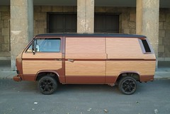 VW van (Fake Wood Style) (Arne Hendriks) Tags: vw volkswagen van