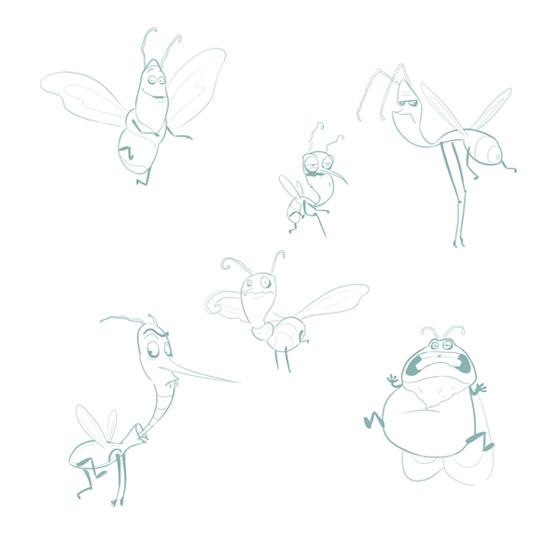 insectos hechos en Photoshop