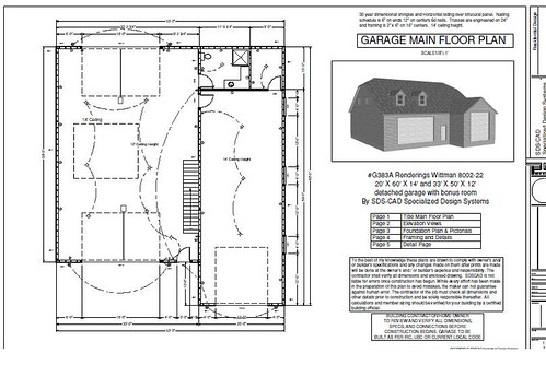 Download RV Garage Plans - G383A 20 X 60 X 14 and 50 X 43 X ...