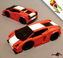Lamborghini Gallardo 2G (Creations for Charity 2010) (ZetoVince) Tags: red car greek lego vince racing vehicle lamborghini stubby gallardo blackrims stubbies zeto 10wide pullbackmotor zetovince dreamdealer creationsforcharity2010