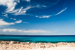 Formentera - Blue (hunter of moments) Tags: travel blue sea sky beach azul landscape island mar nikon paradise playa cielo formentera isla d5000