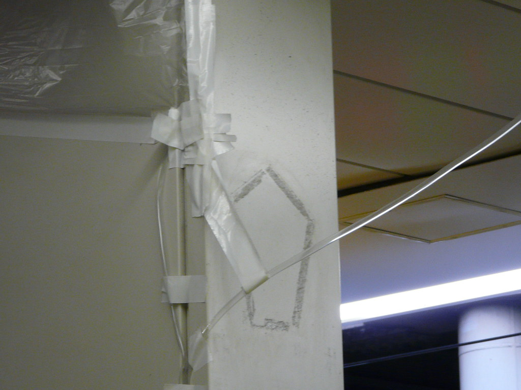 Leaky Roof Fix in Plastic and Tape