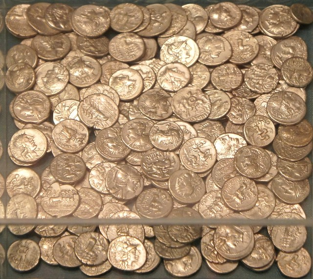 Cordoba Spain silversmith's hoard 222 Roman denarii to 100BC with silver objects and 82 Iberian denarii. Could Roman coins be from Cimbri Teutones defeats,