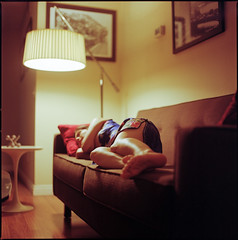 (Tuan__) Tags: sleeping 120 6x6 film colors colours kodak hasselblad sofa medium format portra portra160vc selfdeveloped carlzeiss hasselblad500cm 80mmf28 canoscan8800f gettyimageswants