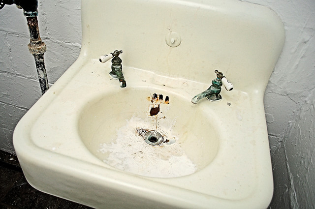 Basement sink