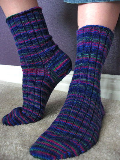 Ravelry Basic Ribbed Socks Pattern By Kate Atherley