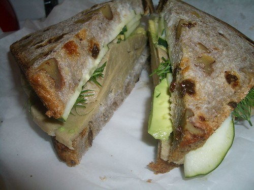 vegan sandwich from soy luck club