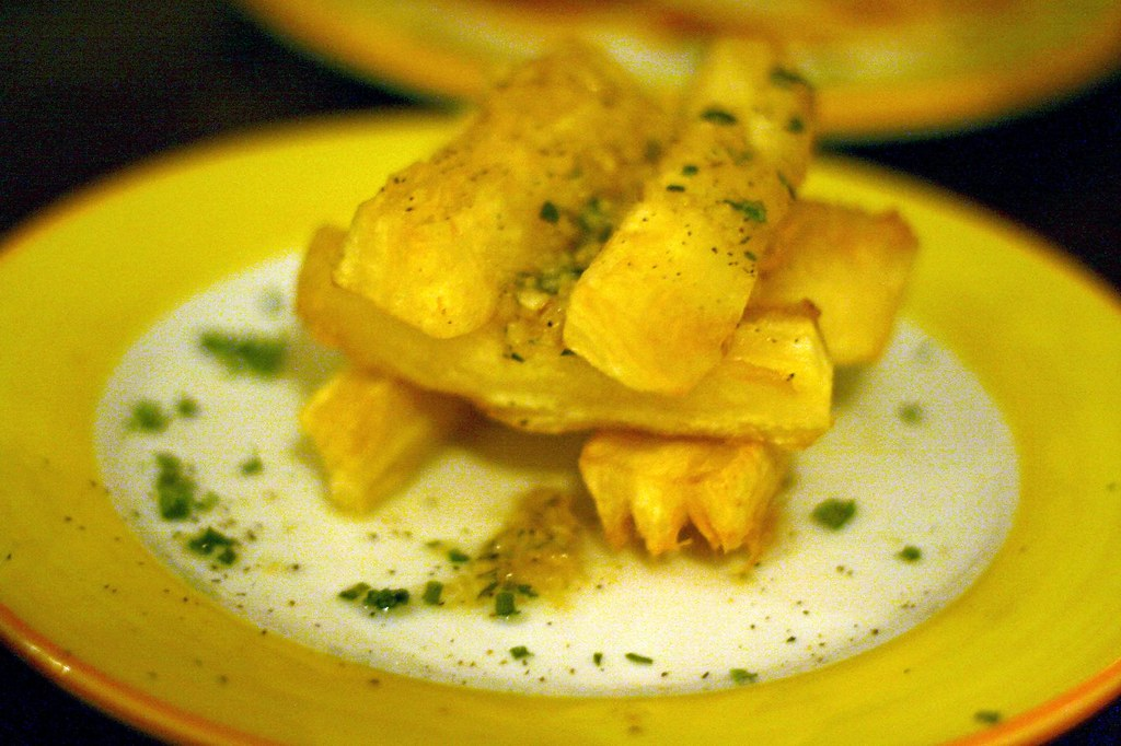 Plate of Yuca frites