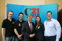 Me, the rest of Catch21 Productions and the Rt Hon Charles Kennedy MP