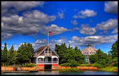 Boathouse & Mansion - by twoblueday
