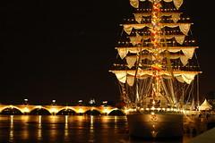 Le Cuauhtemoc (Lionnel) Tags: night boat bordeaux sail voile voilier cuauhtemoc 50mmf18af seenonexplore