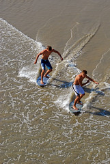 Symmetry (ScottS101) Tags: california shirtless hot male beach muscles surf huntington twink teen blond ten boardshorts hb allrightsreserved skim skimboard skimboarder copyrightscottsansenbach2008