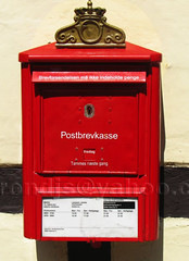 Mailbox (trondjs) Tags: old red colour mailbox canon denmark colours antique historical odense fyn s3is trondjs