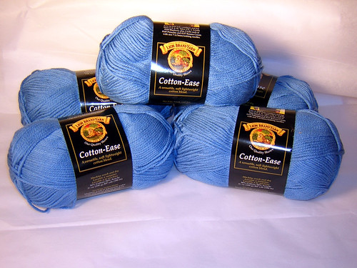 Candy Blue Cotton Ease x 5
