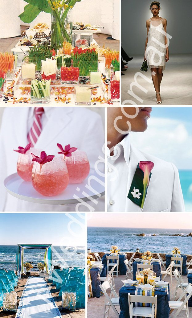 iLoveThese ideas for a beach themed wedding
