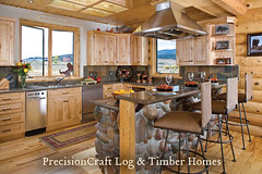 Custom Log Home | Located in Idaho | Kitchen View | by PrecisionCraft Log Homes (PrecisionCraft Log Homes & Timber Frame) Tags: homes usa house home kitchen architecture america design log cabin unitedstates interior tahoe idaho logcabin northamerica custom residential luxury cabins loghouse islandpark logcabins loghome loghomes mountainhomes mountaindesign henryslake loghomeplans precisioncraft lognbsphome lognbsphomes loghomedesign loghomedesigns customloghomedesigns loghomefloorplans idahohomes custommountaindesign