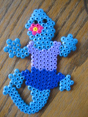 Perler Bead Blue Lizard (Kid's Birthday Parties) Tags: beads lizard perler perlerbeads